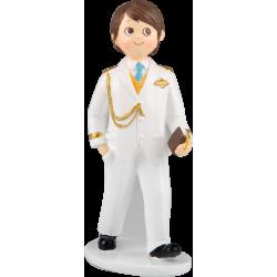 Niño comunión Almirante blanco