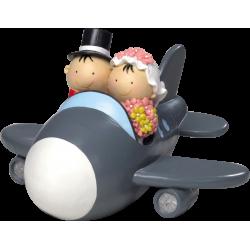 Figura hucha novios avión