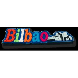 Imán letras Bilbao goma