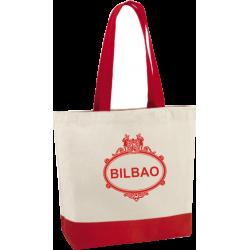Bolso Playa Placa Calles Bilbao rojo