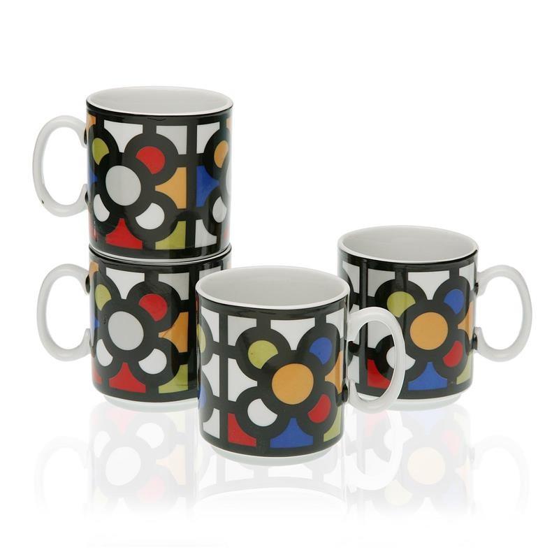 Set 4 tazas mug Baldosa de Bilbao