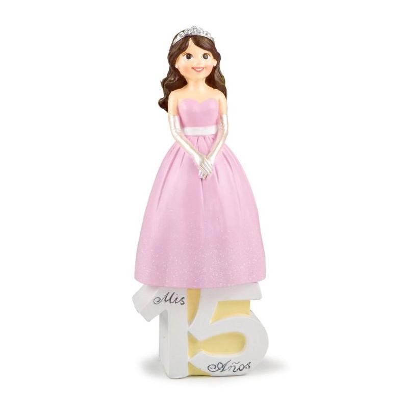 Figura tarta fiesta cumpleaños 15 años