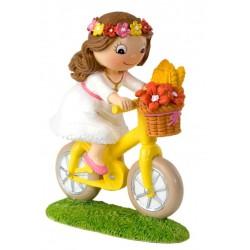 Figura Tarta niña Comunión Bici