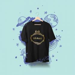 Camiseta Bilbao Placa Calles negra