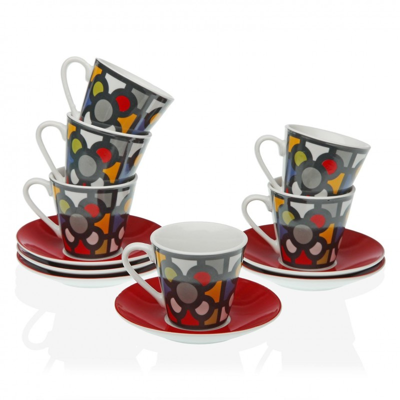Juego de tazas de café baldosa de Bilbao