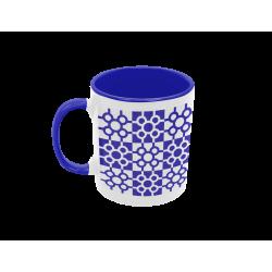 Taza baldosa de Bilbao azul