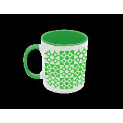 Taza baldosa de Bilbao verde