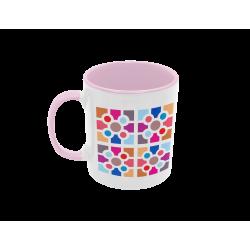 Taza Baldosa de Bilbao colores pastel rosa