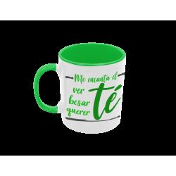 Taza me encanta el té verde