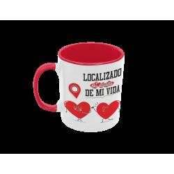 Taza Localizado el Amor de mi Vida roja
