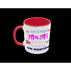 Taza Eres la mejor Mami del universo roja